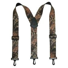 New CTM Men's Elastic Camouflage Suspenders with Black Swivel Clips