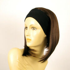 Stirnband Perücke frau mi lange Schokolade Kupfer Docht ref DOROTHEE 6H30