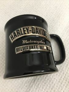 Harley-Davidson Mug Motorcycles Milwaukee Wisconsin Black Coffee Cup Large
