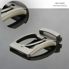 For Sales 1Pcs HQ Cool  Silver Gray Quality Pin Buckle for Mens Belt  Fast Post