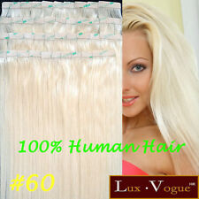 "26"" ex-long 40pcs 100% Human Hair Super Tape-in Extension Remy #60 (Pale Blonde)"