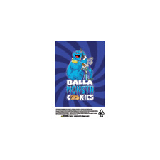 Balla Monster Cookies Cali Tin Labels Mylar Bag Stickers