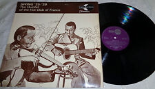 THE QUINTET OF THE HOT CLUB OF FRANCE Swing '35-'39 Vinyl LP EXCELLENT CONDITION