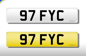 97 FYC CHERISHED NUMBER PERSONAL PLATE