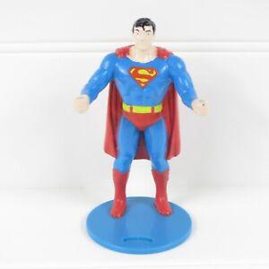 "SUPERMAN - VINTAGE 1988 DC COMICS / BURGER KING 4.25"" PVC CUP HOLDER FIGURE"