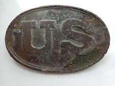 Civil War Us Military Ovale Brass Breast Plate Cartridge Box Plate