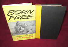 Joy ADAMSON ~ BORN Free - A Lioness of Two Worlds  Vintage 1961 HbDj  UNread