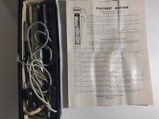 1953 ELECTREAT MASSAGE MACHINE w/ BRUSH, INSTRUCTIONS in Original Box