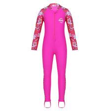 Kid девочек длинный рукав купальник комплект из рубашки и брюк плавать опрометчивые фитнес-пляжный костюм