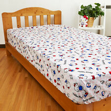 Hello kitty Single Bed Flat or Fitted Sheet SANRIO heart SIZE 105cmx210x25cm