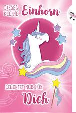 """♬ Geburtstagskarte """"Kleine Prinzessin"""" mit Musik & Licht, Din A5- Musikkarte"""