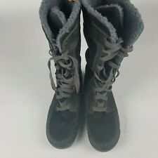 Timberland Womens Leather Black Winter Boots - Size 8.5