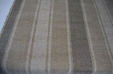 herringbone striped chenille upholstery fabric brown beige caravan sofa fabric