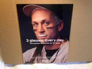 2001 CAL RIPKEN JR.GOT MILK? Baltimore Orioles,AD PRINT ONLY,3 glasses every day