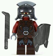 LEGO HOBBIT LORD OF THE RINGS Uruk Hai minifigure & sword Sheild helmet