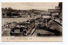 PENICHES et thémes bateaux Port batellerie écluse CPA 91 CORBEIL Ponton moulin
