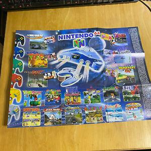 Nintendo GAMEBOY Pocket N64 Nintendo 64 Poster Mario Zelda Pokemon Star Wars AUS