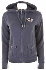 HOLLISTER Womens Hoodie Sweater Size 14 Large Navy Blue Cotton  JU03