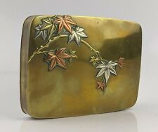 Japanese Antique Box By Nogawa - Bronze Silver & Copper Mixed Metal Meiji SUPERB