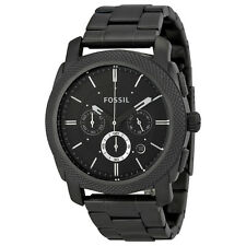 Fossil FS4662 Men's Machine Chronograph Black Dial Smoke Steel Bracelet Watch