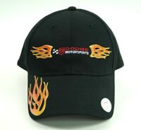 Dodge Motorsports Racing Fire NASCAR Black Red Men's Cap Hat Flames Strapback