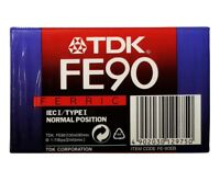 1x TDK FE90 Ferric IECI Type I Normal Pos Blank Audio Cassette Tapes NEW Sealed