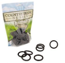 50 - Country Brook Design® 1 Inch Black Powder Coated Welded Heavy O-Rings