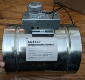 """Wolf 820071 8"""" Automatic Makeup Air Damper With Pressure Switch and Transformer"""