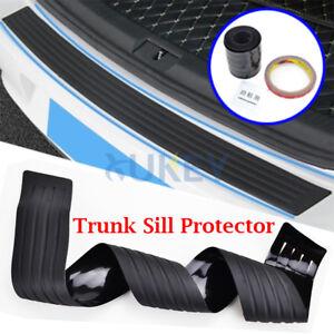 Car Rear Bumper Sill Protector Plate Rubber Cover Guard Back Door Boot Trim
