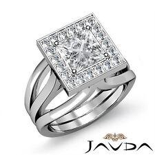 Princess Diamond Engagement Ring EGL Certified G Color VS1 14k White Gold 1.4 ct