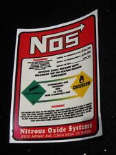 Free Shipping! Nitrous NOS Bottle REPLACEMENT 5 LB DECAL LABEL STICKER 5 pound