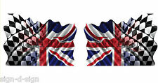 PRINTED UNION JACK RACING FLAG STICKERS GRAPHICS DECALS