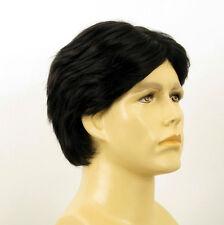 Perruque homme 100% cheveux naturel noir ref THIBAUT 1b