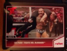2013 Topps Best of WWE #52 CM Punk Fights Mr. McMahon RED