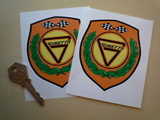 "Ginetta Shield Stickers 4"" Pair Car Race Rally G2 G3 G4 G6 G8 G11 G12 G16 G21"