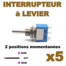 938/5# Interrupteur à levier MOM-OFF-MOM 5pcs