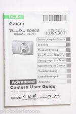 Canon SD900 IXUS 900 Ti Digital Camera Instruction Manual Book English - USED GD