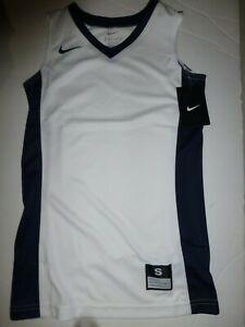 Nike Big Girls Small Fastbreak Stock Basketball Jersey White 683337 New