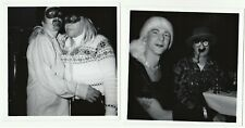 2 Vintage Halloween Party Photos- Gay Men Crossdresser TATTOO Rochester NY 1950s