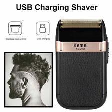 KEMEI Men's USB Rechargeable Electric Shaver Cordless Barber Razor Beard Trimmer