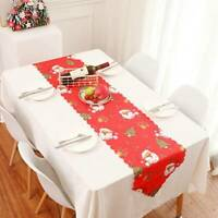 Durable Christmas Table Cover Cloth Xmas Dinner Party Home Decoration Q