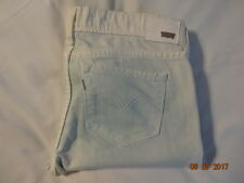 Levi's Women Cropped White/Green  Jeans Sz 31/27   EUC