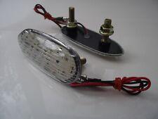 LED Indicators Mirror Block Off Flush mount clear lens GSXR 600 750 1000 (04-10)