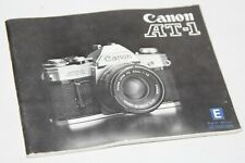 Canon AT-1 - Vintage Camera Instruction Manual