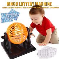 Large Traditional Bingo Game Family Revolving Ball Dispenser Machine Balls Card