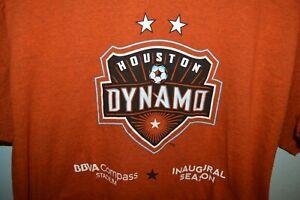 Houston Dynamo rare Inaugural Season Soccer MLS T-Shirt Mens XL