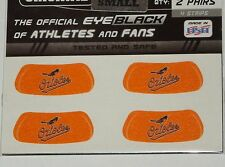 AUTHENTIC MLB BALTIMORE ORIOLES EYE BLACKS TWO PAIRS 4 STRIPS MADE IN USA