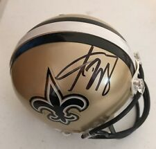 Adrian Peterson Signed Autographed New Orleans Saints Mini Helmet Vikings Coa