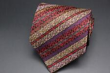 MISSONI Cravatte Silk Tie. Red Black Purple Teal   Brown Stripes. Made in  Italy 9310c5cc4
