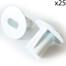 25x 8mm White Twin Shotgun Cable Bushes -Through Wall Cover- RG6 Coax Hole Tidy